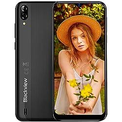 Blackview A60 Moviles 2019, Smartphone Libres (15.7cm) 19.2:9 HD Display, Cámara 13MP+5MP, 4080mAh Batería Telefono, 16GB ROM + 128GB TF Ampliable Dual SIM Android 8.1 (Go Edition)(EU Versión)