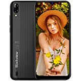 Blackview A60 (2019) Téléphone Portable Pas Cher Écran 6.1 Pouces 4080mAh Batterie Double Cameras 13MP+5MP Double Nano-SIM Capacite 16Go (Extensible à 128Go) Android 3G Smartphone débloqué - Noir