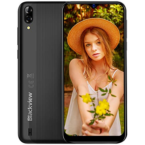 Blackview A60 Moviles 2019, Smartphone Libres (15.7cm) 19.2:9 HD Display, Cámara 13MP+5MP, 4080mAh Batería Telefono, 16GB ROM + 128GB TF Ampliable Dual SIM Android 8.1 (Go Edition)(EU Versión)