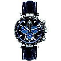 HERBELIN - 36655/AN65 - Newport Yacht Club - Montres Homme - Quartz-Chrono - Bleu - Bracelet Cuir Bleu