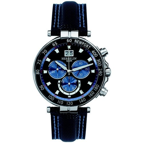 Mens Michel Herbelin Newport Marine Chronograph Watch 36655/AN65