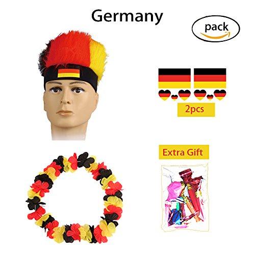 n 2018 WM Fußball Fußball Fans Kits Party Halloween Cosplay Kostüm Farbe Flagge Stirnband (Germany) (Kreative Halloween Kostüme Für Mädchen)