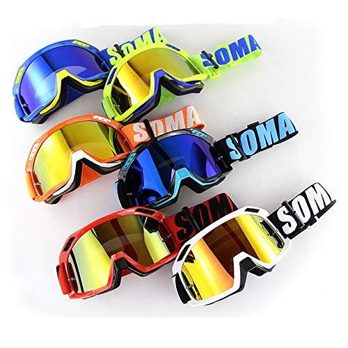 Professionale casco motocross occhiali moto occhiali equitazione strada maschera da sci snowboard per uomo donna