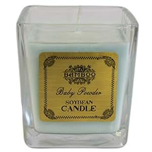 Soyabean Duftkerze im Glas Baby Powder. Brenndauer ca. 35 Stunden,> Verpackungsmaße: H: 8 cm, B: 7 cm T: 7 cm.. ein perfektes Geschenk für Geburtstage, Christmas......