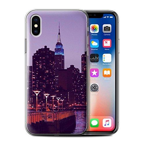Stuff4 Gel TPU Hülle / Case für Apple iPhone 6S+/Plus / Abstrakte Kunst/Farbe Muster / Lila Mode Kollektion Stadt Skyline/Nacht
