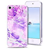 MoEvn Coque iPod Touch 5 Marbre, iPod Touch 6 Etui Silicone Clear Protection pour...