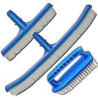 Elecsa 9499 - Juego de cepillos para limpiar piscinas (2 unidades y 1 esponja)