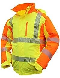 4abb7c7c2e3af6 ELDEE YO-HiViz Pilotenjacke 4710, Warnschutzjacke, gelb/orange, mit  Wattierung,