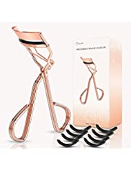 BESTOPE Eyelash Curler Eye Lashes Clip Fits All Eye Shape Essential Cosmetic Makeup Accessory for Ladies with A Satin Bag and 8 Refill Pads