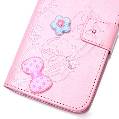 Bling Coque pour iPhone 7 Plus,Glitter Coque pour iPhone 7 Plus,EMAXELERS iPhone 7 Plus 5.5 Pouce Leather Case Wallet Flip Protective Cover Housse Swag pour iPhone 7 Plus,iPhone 7 Plus Coque Cuir Foli Hearts Diamond 3