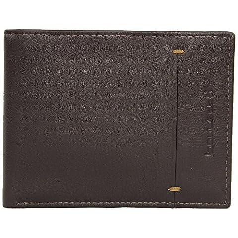 Bouletta Handmade Men's Leather Wallet Card Holder Purse Wallet Money Card Case Wallet, Brown Nappa