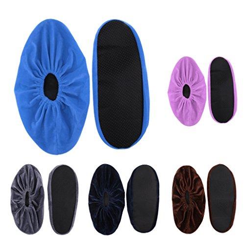 Slip-on-Überschuhe (Unbekannt Sharplace 5 Paar Wiederverwendbare Waschbar Slip-on Überschuhe Schuhüberzieher Schuh Bezüge für Haushalt Büro)
