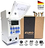#6: Euro Din Type Digital Timer Controller- Made in Germany-Programmable for Daily/Weekly- DIN Rail Mounting