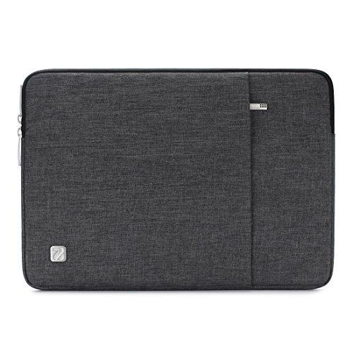 "NIDOO 10.1 Zoll Wasserdichtem Laptop Sleeve Case Notebook Schutzhülle Tasche Schutzabdeckung für 9.7\"" Samsung Galaxy Tab S3 / 10\"" Lenovo Tab 4 Plus / 10.5\"" 11\"" iPad Pro Tablet,Dunkelgrau"