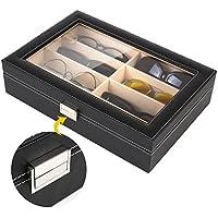 MVPOWER Caja para Gafas con 8 Estuches para Guardar y Almacenar Anteojos, Organizador y Soporte de Gafas de Sol