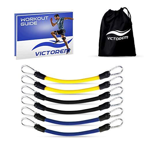 Victorem tubi resistenza gambe - set corde elastiche fitness per corsa