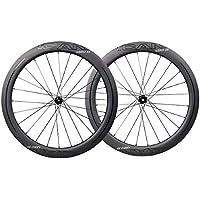 ICAN Ruedas de Carbono Aero 55 Disco Bicicleta de Carretera Juego de Ruedas 55mm Clincher Tubeless