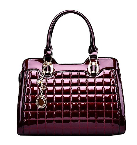 Yan Show, Borsa a tracolla donna nero Black Wine Red