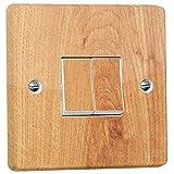 stika.co Lichtschalter-Aufkleber für Crabtree 4172, Holzoptik
