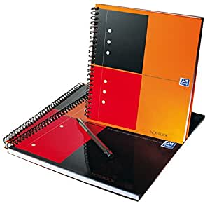 Oxford International Notebook cahier A5+ reliure integrale couverture  rigide 160 pages ligné