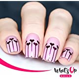 Whats Up Nails - Balloons Nail Stencils Stickers Vinyls For Nail Art Design (2 Sheets, 40 Stencils Total)