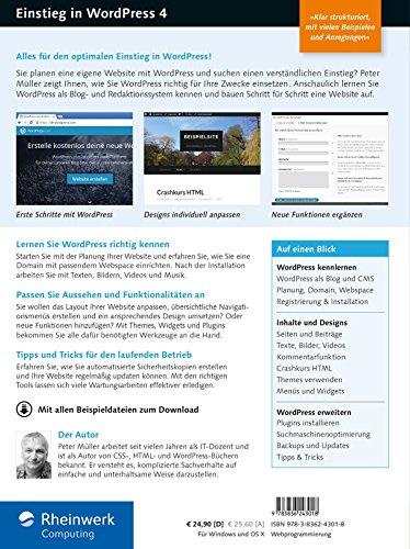 51y1I8DNJdL - Einstieg in WordPress 4: Mit Peter Müller erstellen Sie Ihre eigene Website. Inkl. Einsatz von WordPress-Plug-ins.