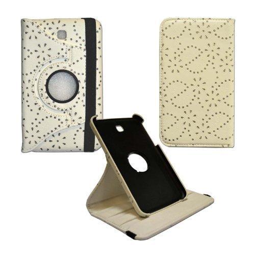 GADGET BOXX BLING WEIß GLITZER Diamant-Muster 360 Grad drehen ENTWURFS STIL DRUCKEN PU Ledertasche für Samsung Galaxy Tab 7 3