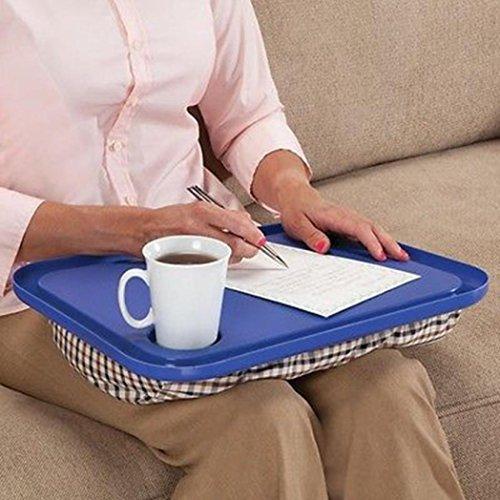 masrin Lap Schreibtisch für Laptop Stuhl Student Studium Hausaufgaben Schreiben tragbar Tablett blau