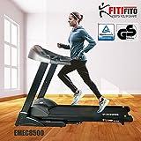 Vatertagangebot bis 25.05! Fitifito 8500 Profi Laufband 7PS 22km/h mit LED Bildschirm, Dämpfungssystem, 5 Trainingsmodulen inkl. HRC - Klappbar, Schwarz