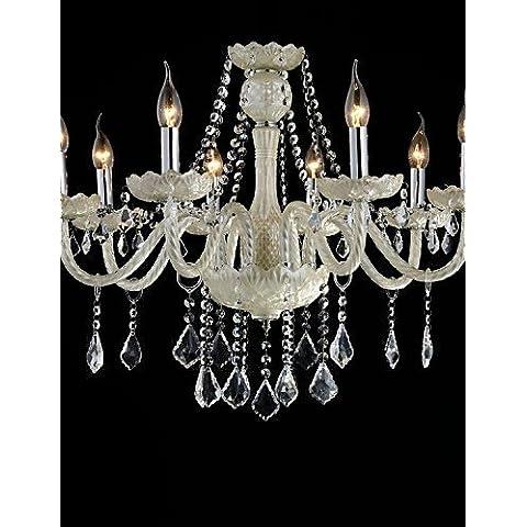 Goud lampadario 8-Light lo stile del palazzo di vetro lampadario