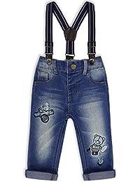 The Essential One - Baby Kinder Jungen Jeans mit Hosenträger - Blau - EOT184