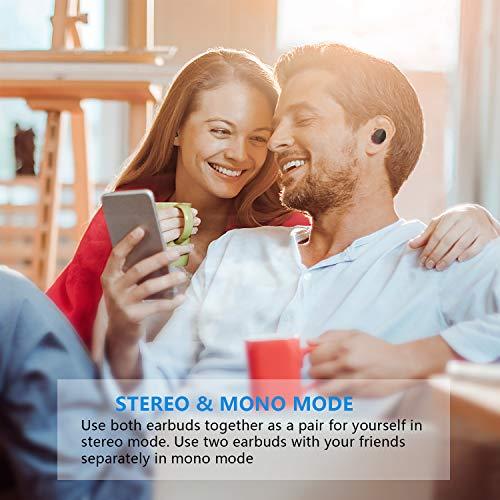 Bravoly Auricolari Bluetooth 5.0 Cuffie Bluetooth 100 Ore di Riproduzione Leggeri Mini Stereo Sport Cuffie Wireless Senza Fili con Portatile Stazione di Ricarica e Mic per Samsung iPhone Huawei Sony