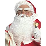 NET TOYS Stilechte Weihnachtsmann-Perücke mit Bart | Weiß | Aufwendiges Herren-Kostüm-Zubehör Nikolaus geeignet für Weihnachtsfeier & Weihnachten