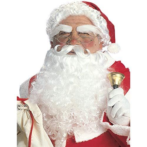(NET TOYS Stilechte Weihnachtsmann-Perücke mit Bart | Weiß | Aufwendiges Herren-Kostüm-Zubehör Nikolaus geeignet für Weihnachtsfeier & Weihnachten)