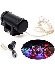 USB recargable LED Bicicleta Rueda Neumático Spoke Reflector Strip Light impermeable al agua, verde, S