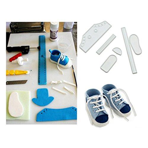 Schuhe Formen Baby (Albeey Baby Schuhe Fondantform Sugarcraft Cutter Kuchen Dekoration Set)