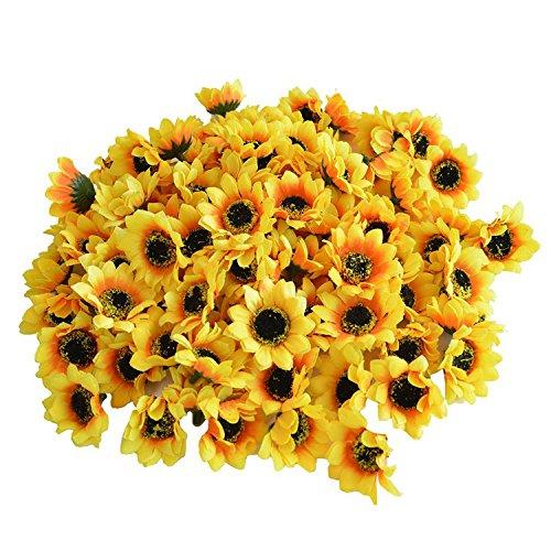 Matrimonio Fiori Girasole : Top testa finto girasole fiore di seta artificiale mazzo