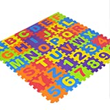 Jerome10Dan Puzzlematten-Beleg, 36 PCS pro Satz Eva-Kinder Puzzlematten-Digital-Buchstabe-pädagogische Schaum-Matte Kalt-Beweisumweltfreundliches Baby-kriechende kletternde Matte