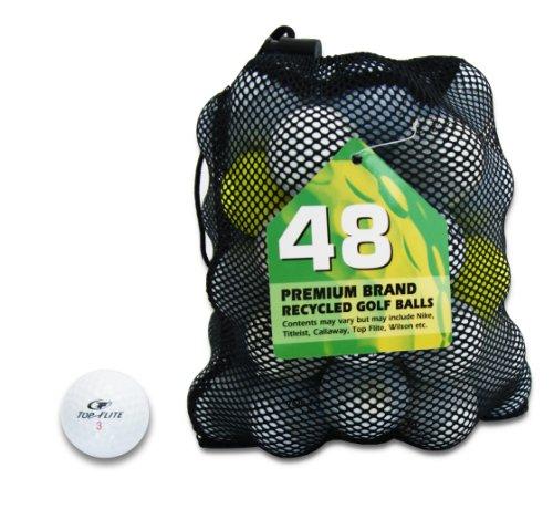 Second Chance Top Flite 48 balles de golf recyclées de catégorie A