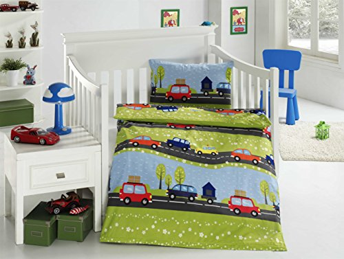 aminata kids bunte jungen kinder bettw sche 100x135 auto preisvergleich bei. Black Bedroom Furniture Sets. Home Design Ideas