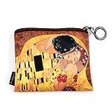 Fridolin Mini Porte-Monnaie avec Fermeture Éclair Klimt Le Baiser, 12 cm, Multicolore