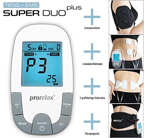 prorelax Tens/Ems SuperDuo Plus. Elektrostimulationsgerät mit besonders umfangreichem Zubehörset - 2