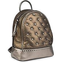 7527b69fe styleBREAKER Zaino con borchie da donna zainetto in stile Chesterfield,  chiusura con cerniera, borsa