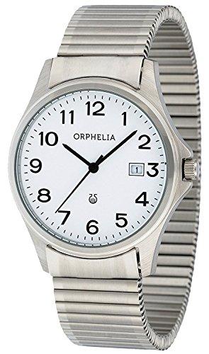 Unisex-reloj analógico de cuarzo Orphelia acero inoxidable OR53770818