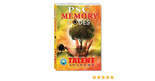 Buy PSC Memory Codes Book Online at Low Prices in India | PSC Memory