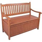 Truhenbank Holz OUTLIV. Austin 2-Sitzer 107 cm Akazie Gartenbank mit Truhe massiv Sitzbank Holzbank Ruhebank