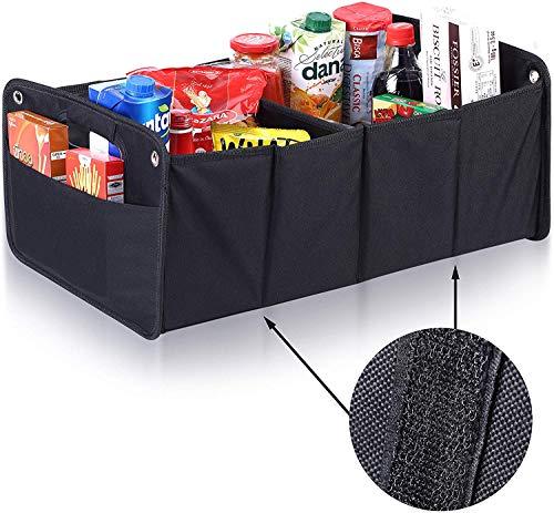 Upgrade4cars Kofferraum Organizer mit Klett   Auto Kofferraumtasche für Einkauf, Ordnung, Transport, Utensilien, Aufbewahrung   Universal Falt-Box Klein & Stabil   Auto-Zubehör Gadget