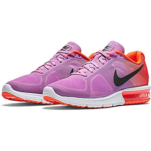 Nike Wmns Air Max Sequent, Scarpe sportive, Donna Fuchsia Glow/Orange/Purple/Black