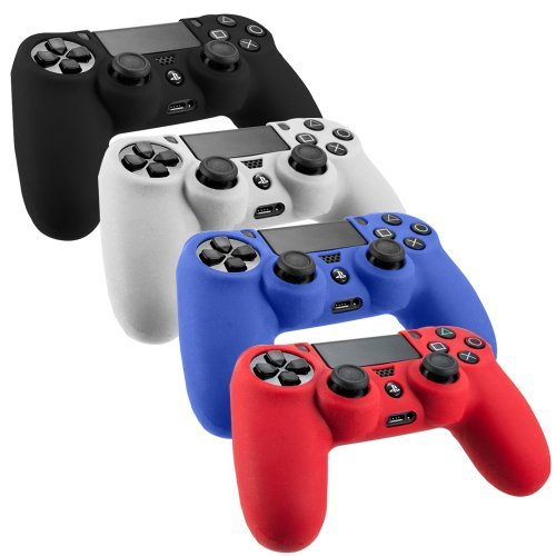 slickbluetm-pack-of-4-color-combo-flexible-silicone-protective-case-for-sony-ps4-game-controller-bla
