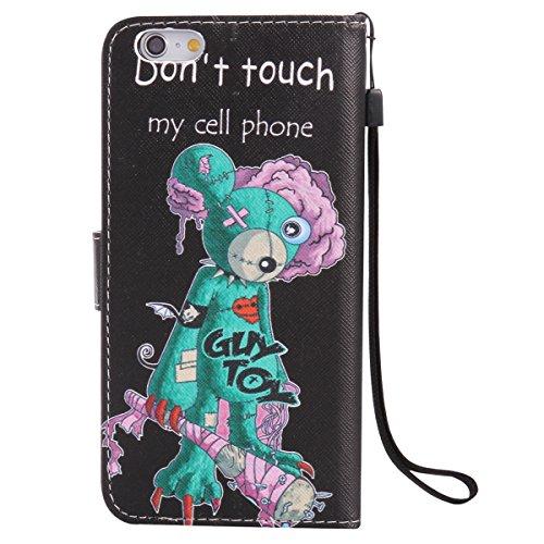 iPhone 6S Plus Ledertasche,iPhone 6 Plus Handyhülle,JAWSEU Leder Wallet Strap Brieftasche Handycover,Cool Weiß Leopard Muster Weich Tpu innere Lanyard Folio Hüllen Schutzhülle Schutz Cases Etui Lederh Maus